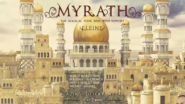 Myrath, due date italiane a marzo