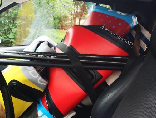 iSUP in a car