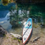 Inflatable SUP at Eibsee in Bavaria