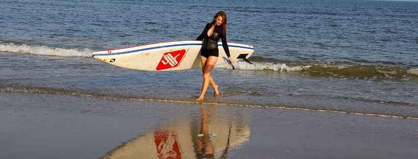Inflatable SUP at the Baltic Sea