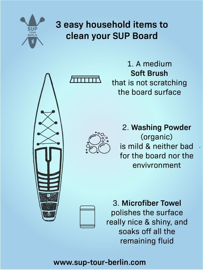 3 easy household items to clean your SUP Board