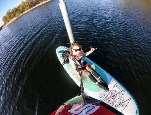 Stand up Paddler on a SUP