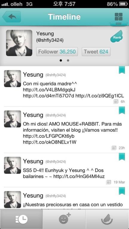 130320 Yesung Twitter Update