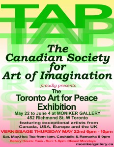 Invitation to Toronto Art for Peace
