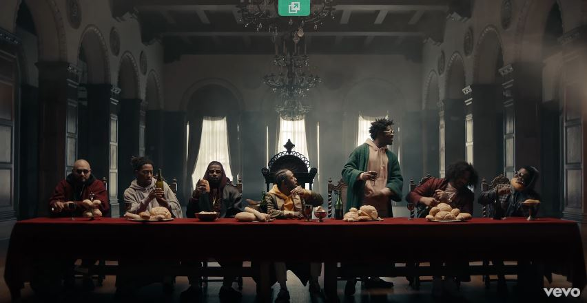 Watch Kendrick Lemar's Recreation of the Last Supper Directed Dave Meyers  For 'Humble'