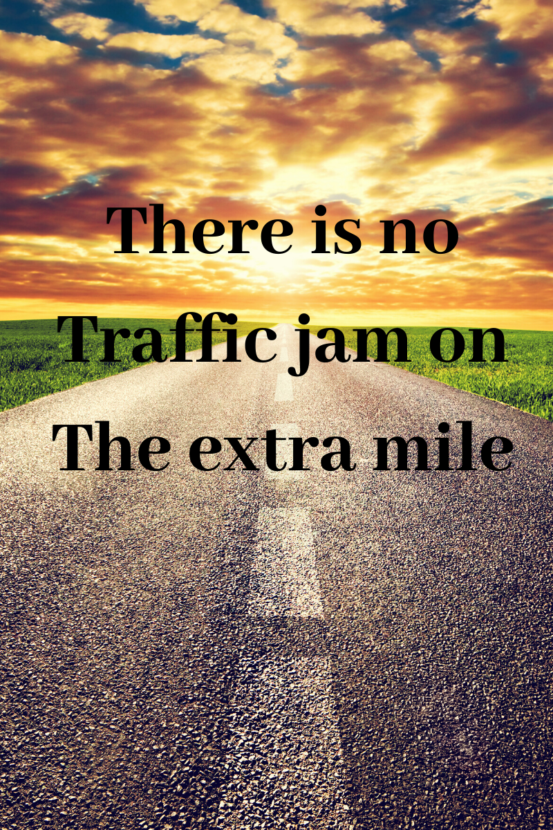 quote about going the extra mile