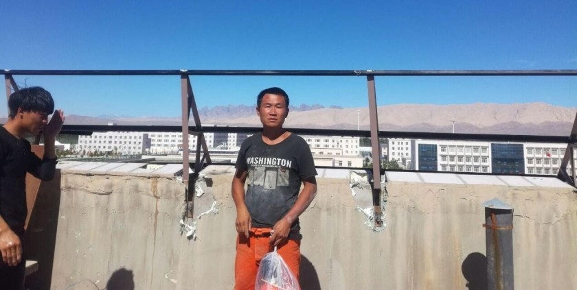 Kong Yuanfeng at a prison and detention center complexnear Kashgar