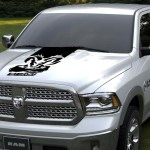 Exterior Accessories For Dodge Ram Skull Hood Stripe Truck Decals Mopar Stickers Racing Graphics 23 Itrainkids Com
