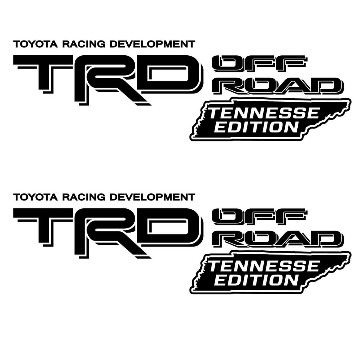 Product Trd Off Road Bed Decal Sticker Tennessee Edition