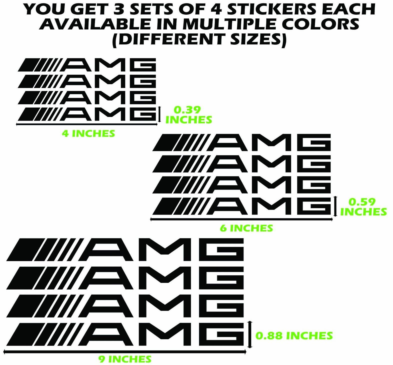 Product 12 Amg Mercedes Decals Brake Caliper Stickers