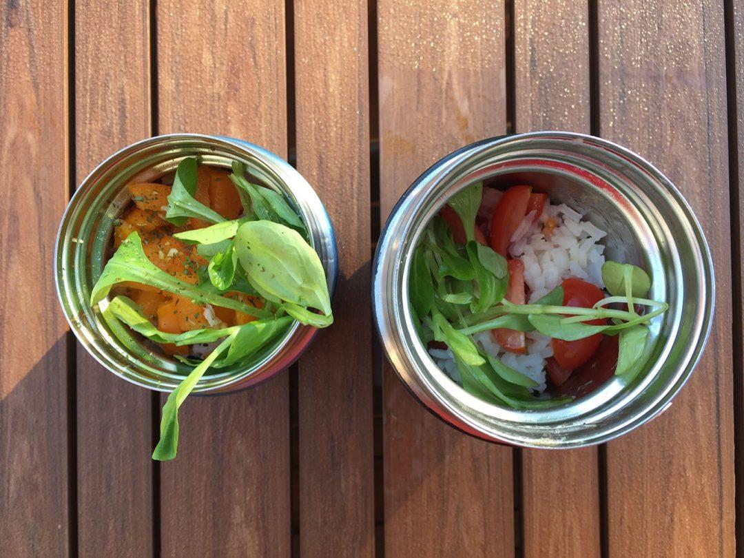 Salade de riz et saumon