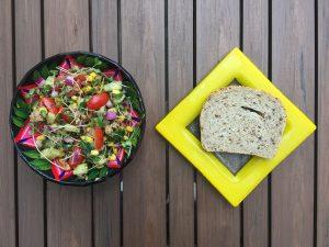 salade santé de thon, mais et posuse