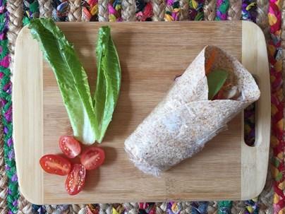 Tortillas santé à l'avocat, poulet et carotte