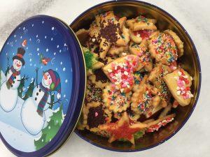 boîte de biscuits de Noël maison