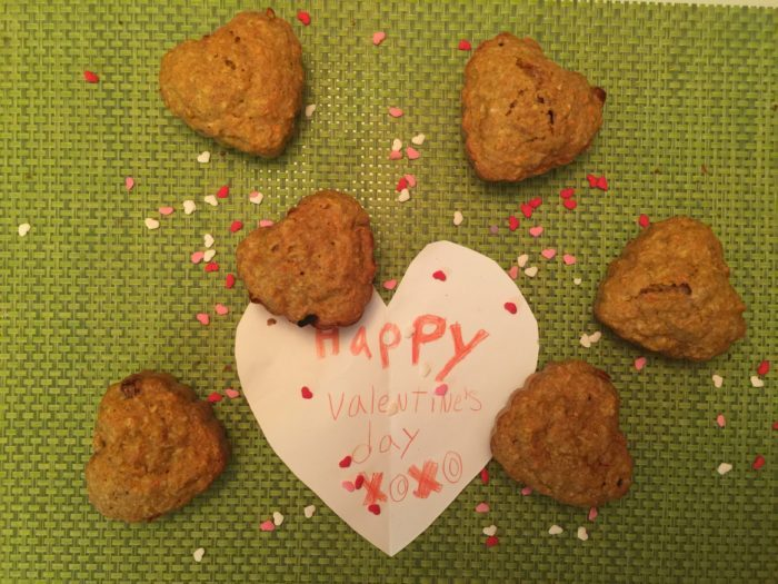 les petits coeurs aux carottes pour la Saint Valentin