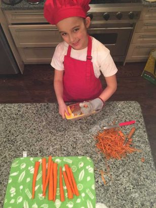 Râper les carottes