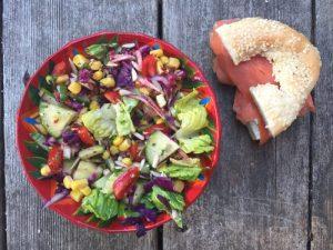 La salade de restes pour Super Boîte à Lunch