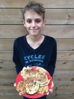 Arthur est fier des croquettes de riz de Super Boîte à Lunch