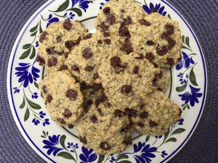 Les cookies aux flocons d'avoine et pépites de chocolat de Laetitia
