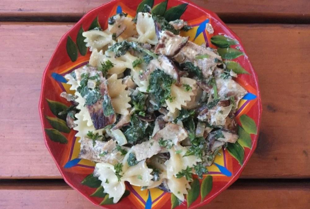 Porc au Shiitake, baby kale avec sauce à la moutarde pour Super Boîte à Lunch