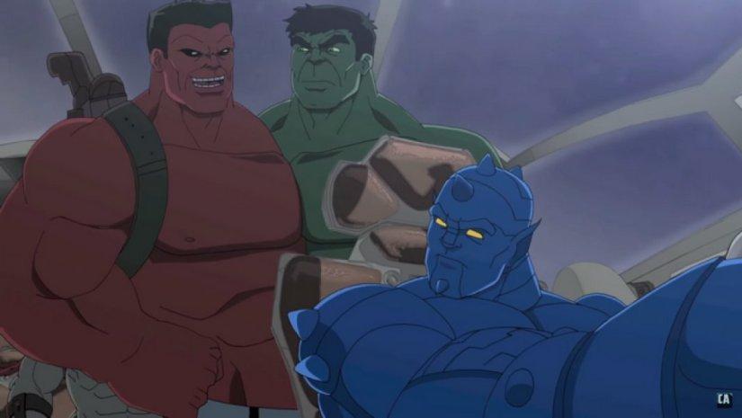 A-Bomb junto a Red Hulk y Hulk