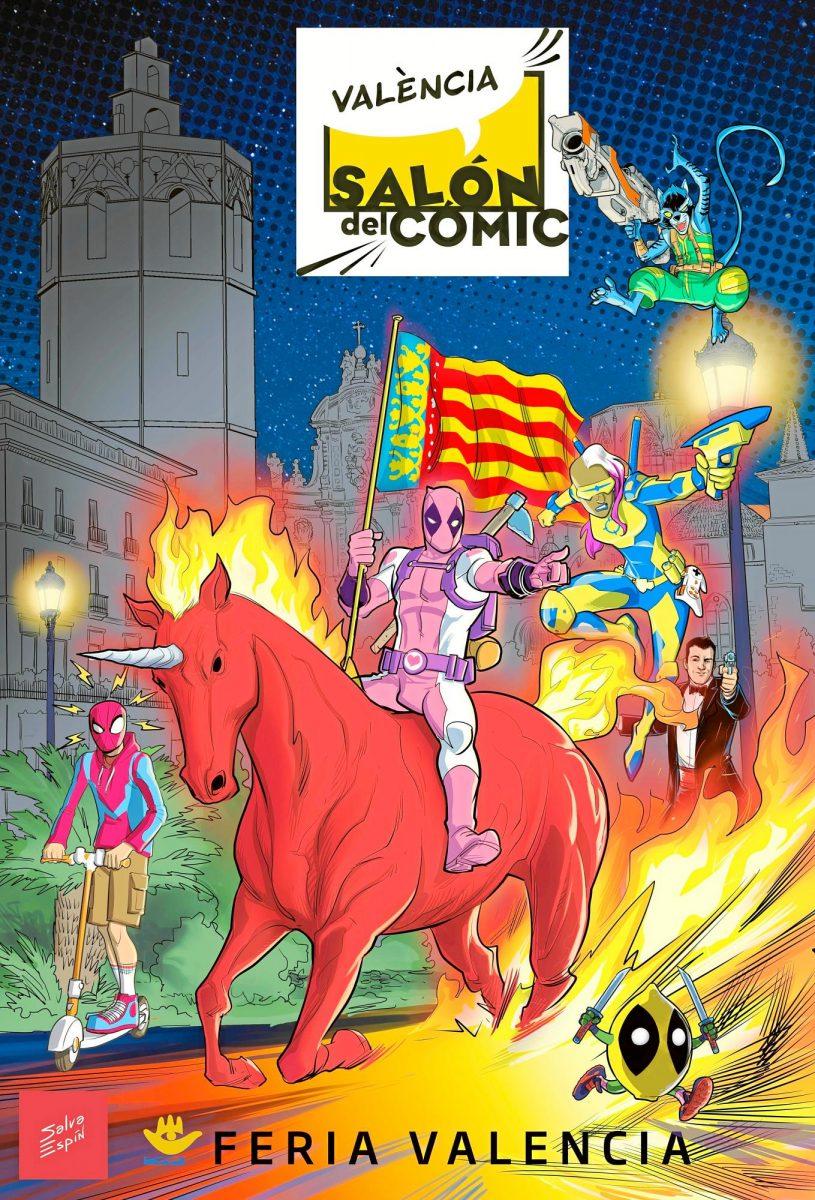 Cartel promocional salon del comic de valencia de Salva Espín