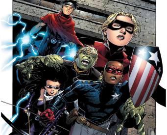 jóvenes vengadores cómics