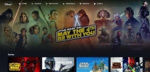 Imagen de la plataforma Disney+, la cual celebra el 4 de mayo con mucho contenido de Sar Wars.