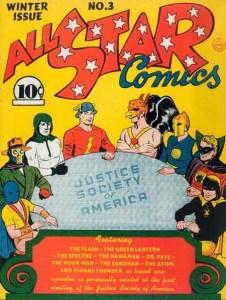Portada del primer cómic de la JSA