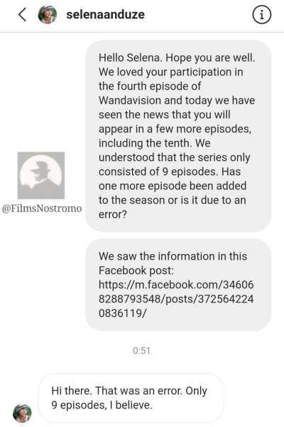 EXCLUSIVA: Selena Anduze confirma que WandaVision contará únicamente con 9 episodios, y no con 10 como se dijo