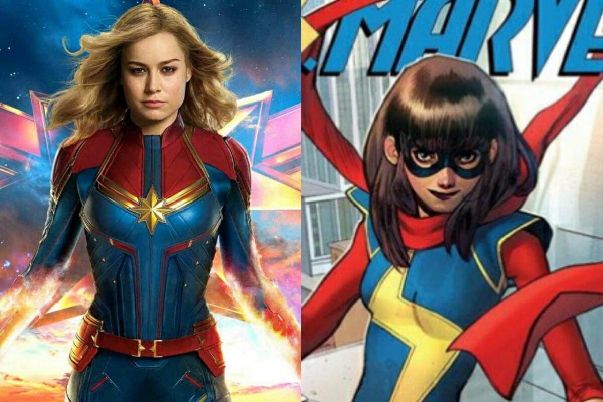 Capitana Marvel junto Ms. Marvel en Capitana Marvel 2