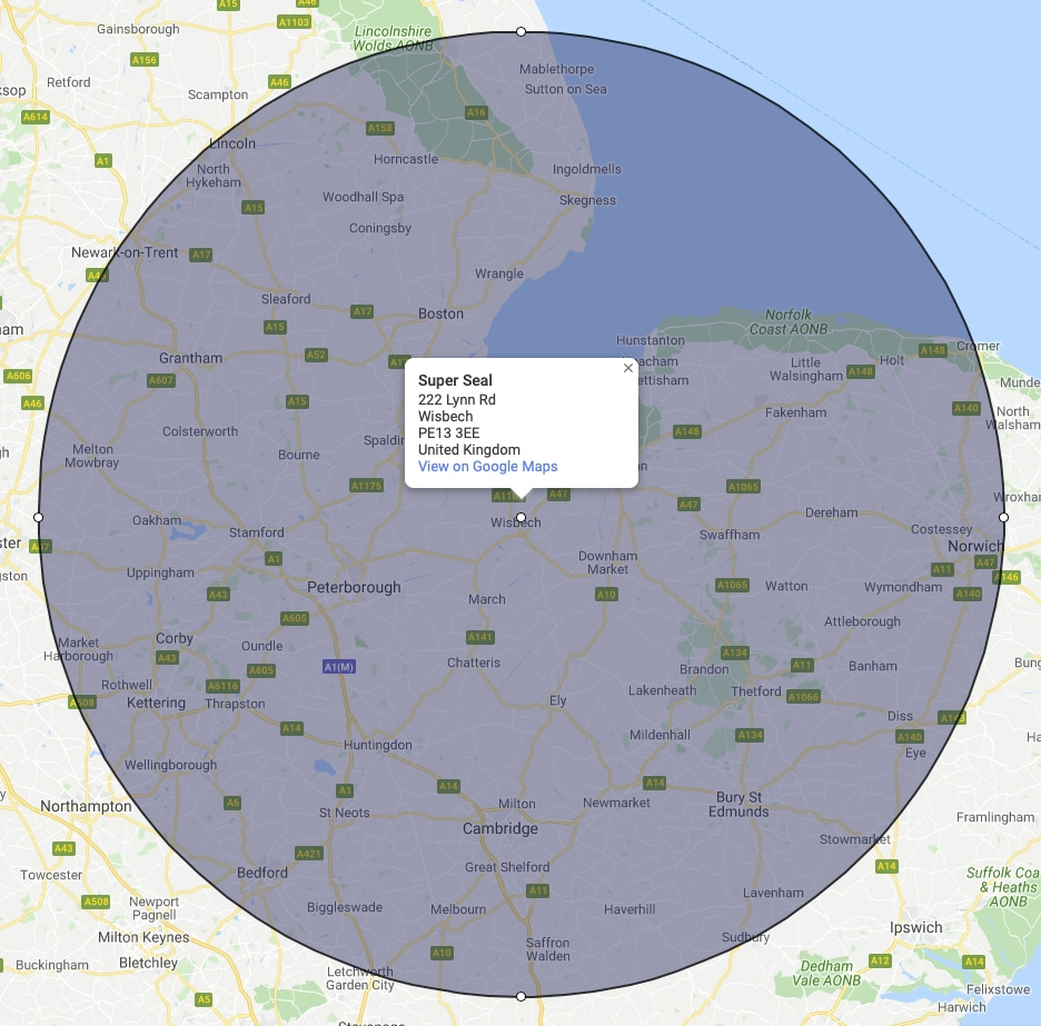 Working within a 50mile radius of Wisbech