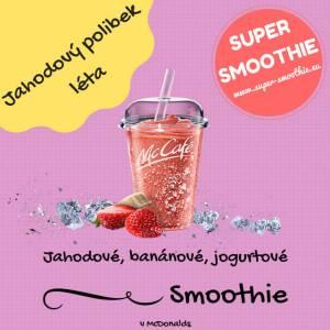 Jahodové, banánové, jogurtové smoothie - Jahodový polibek léta