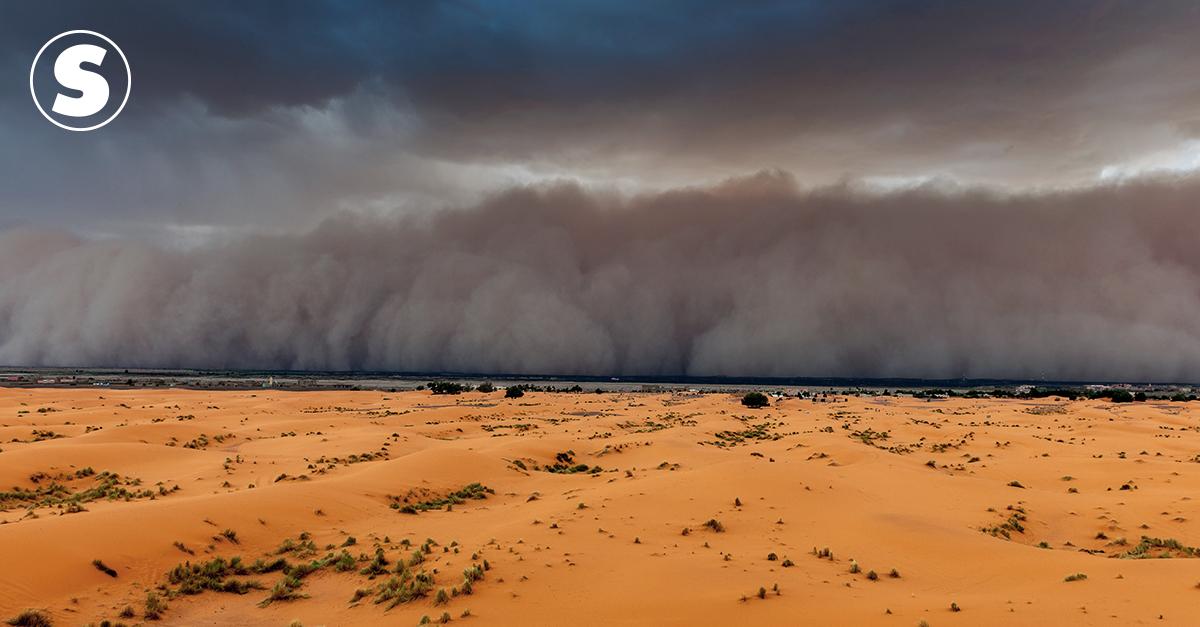 Tempestade de areia vinda do Saara se encaminha para os EUA