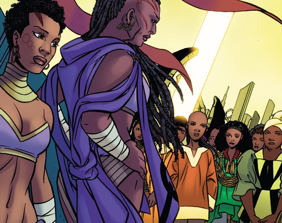 Mistress Zola welcoming a new crop of potential Dora Milaje