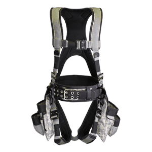Deluxe Harness With Tool Bags - Digital Green