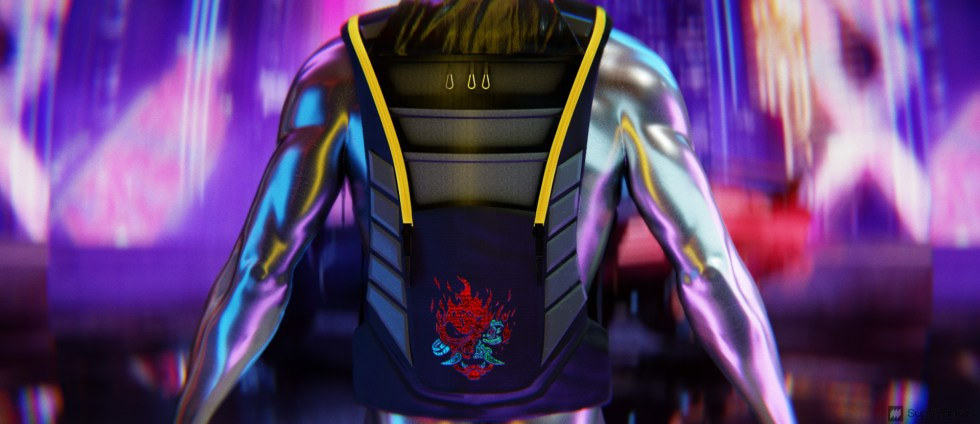 SupeRanked 013 Cyberpunk 2077 Backpack - Back Open