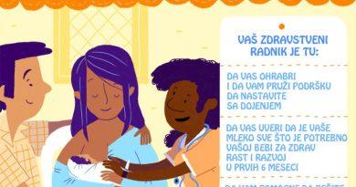 SZO dojenje kada dodjete sa bebom kuci