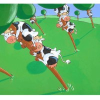 La vache qui tombe bien !
