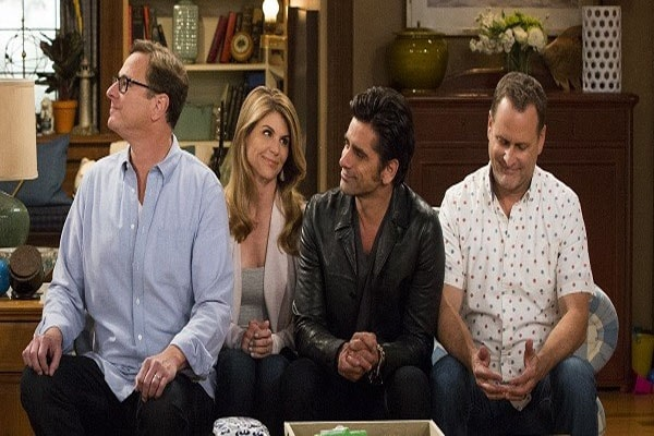 John Stamos with team Full House.