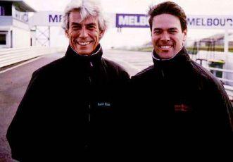 Keith and Australian school director Steve Brouggy in 1999.
