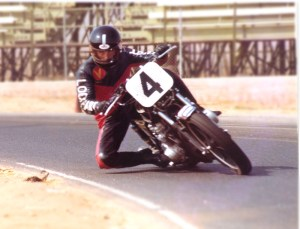 Keith at Riverside raceway in 1981, shortly after the school was established.