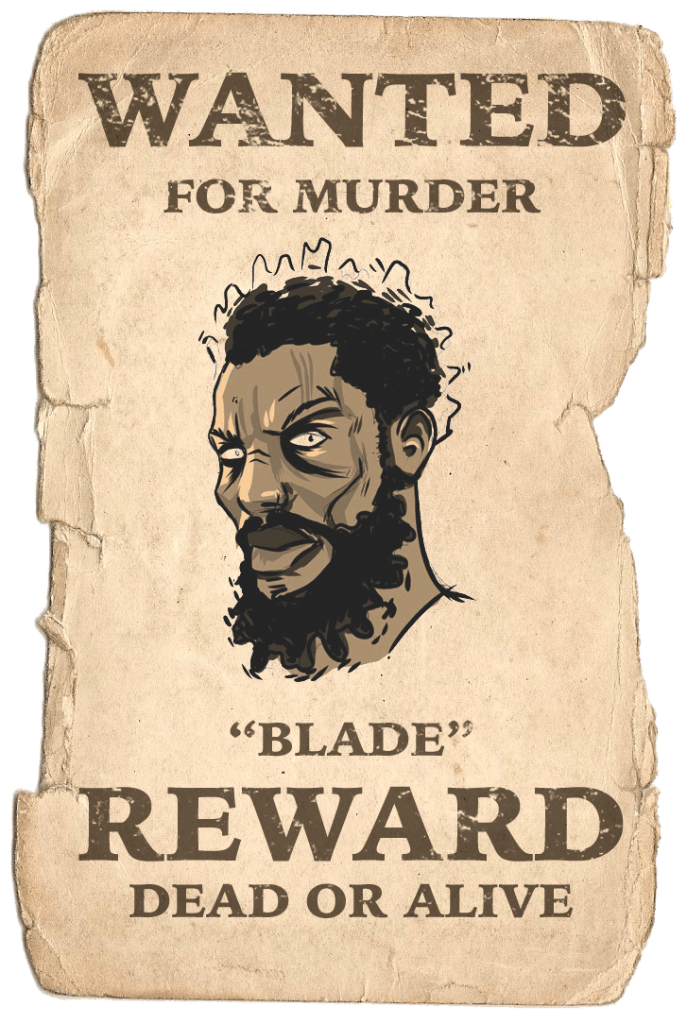 Marvel's Blade: Dead or Alive poster. Art by Daniel O'Brien