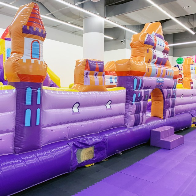 The Bouncy Tiger, bouncy castle at kids' indoor playground, Kiztopia in Singapore