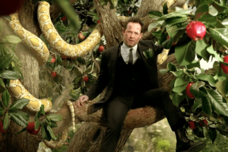 Allstate 2013 Super Bowl XLVII Commercial with Mayhem as Adam and Eve's Apple