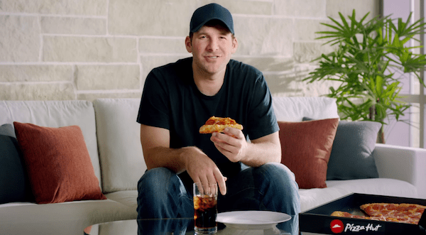 Tony Romo's appearance in Pizza Hut's Super Bowl Sunday Pregame ad campaign.