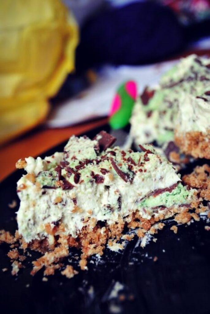 Mint-aero-cheesecake