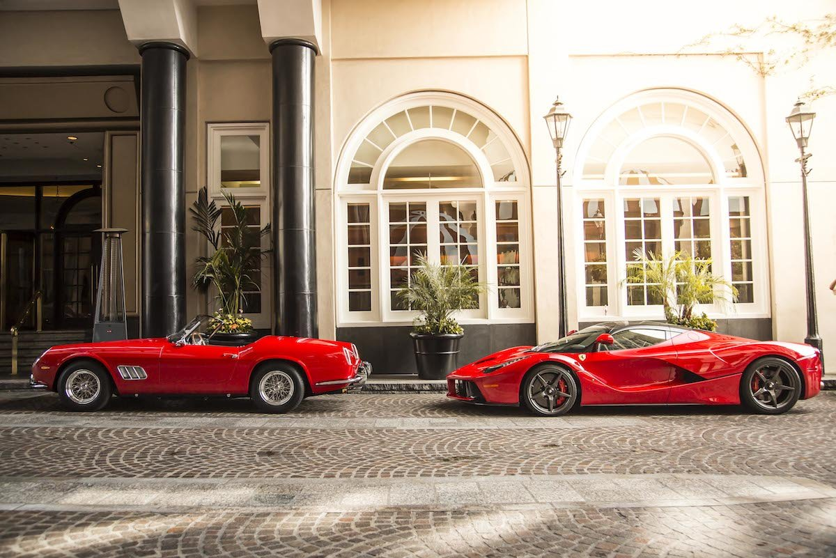 1000 Ferrari Models In Beverly Hills On Rodeo Drive