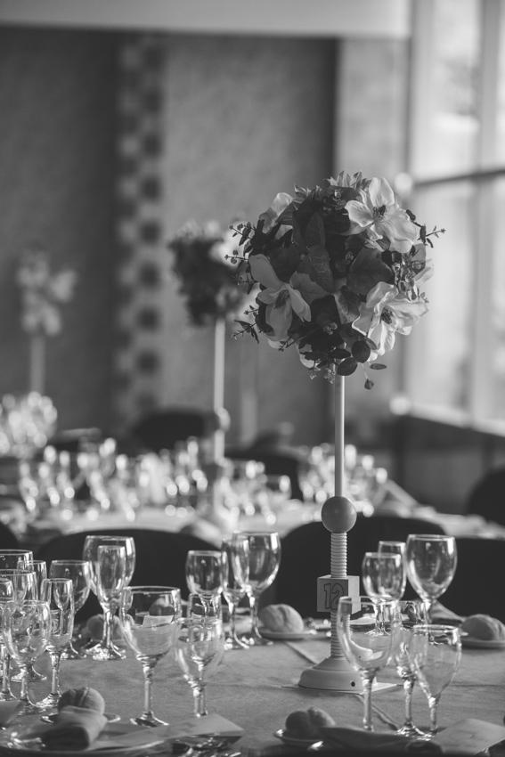 Detalle de las mesas de una boda, Hotel ACG Los Villars, Jaen, Supercastizo foto y video