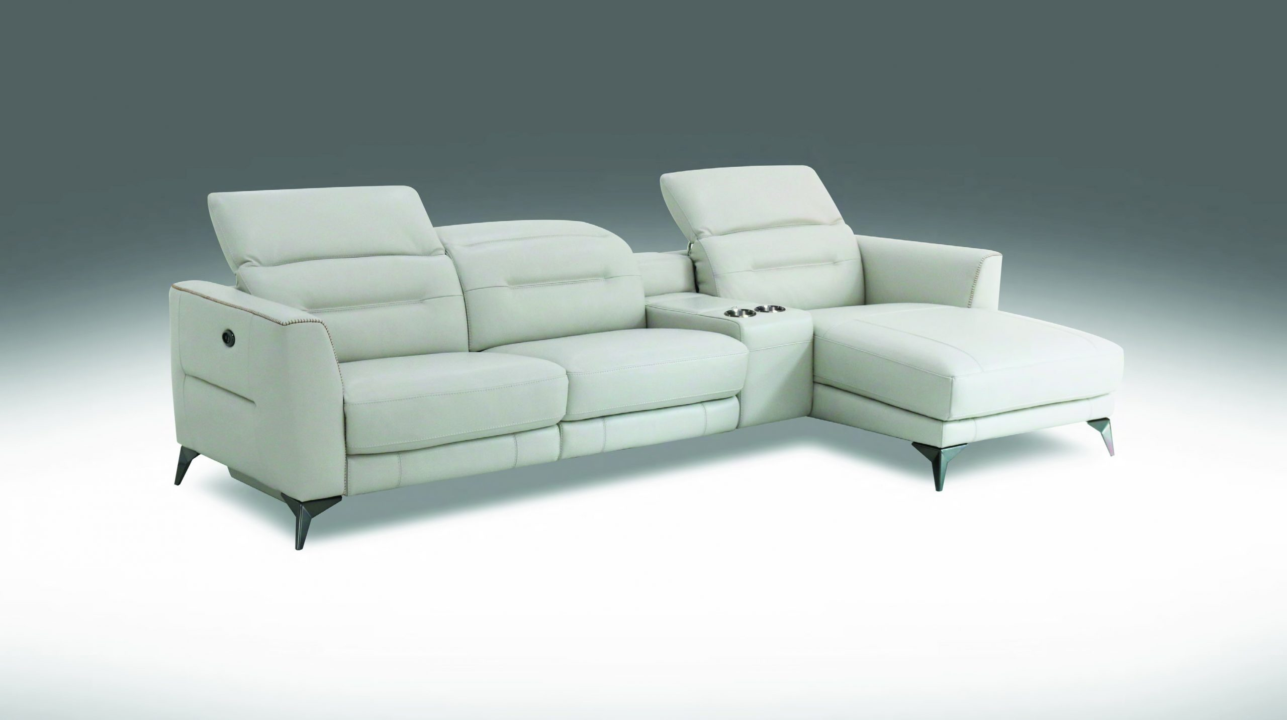 htl power reclining leather sectional with sofa chaise console mu b5023